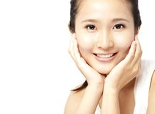 Asian woman's face royalty free stock photos
