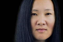 Asian Woman's Face Royalty Free Stock Images