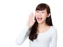 Asian woman scream Royalty Free Stock Photos