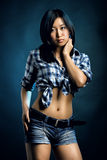 Asian woman in shirt Royalty Free Stock Photos