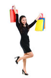 Asian woman shopper Royalty Free Stock Image