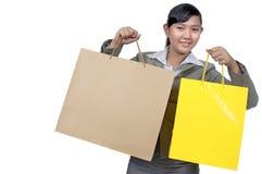 Asian Woman Shopping Royalty Free Stock Photo