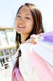 Asian woman shopping Stock Photo