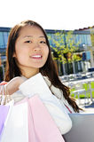 Asian woman shopping Royalty Free Stock Photo
