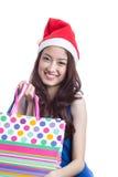 Asian woman and shopping bag Stock Photo