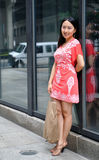 Asian woman shopping in the city Stock Photo