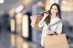 Asian woman shopping Stock Photos