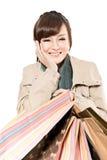 Asian woman shopping Stock Image