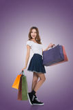 Asian woman shopping Royalty Free Stock Photography