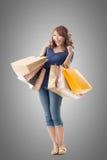 Asian woman shopping Royalty Free Stock Photos