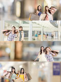 Asian woman shopping Royalty Free Stock Image