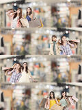 Asian woman shopping Royalty Free Stock Images