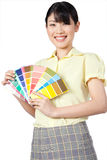 Asian Woman Showing Color Chart Stock Photos