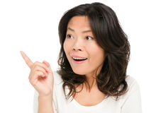 Asian woman showing surprised Stock Images