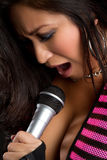 Asian Woman Singing Stock Photography