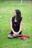 Asian woman sitting Stock Photos