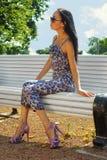 Asian woman sitting Stock Image