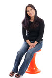 Asian woman sitting Royalty Free Stock Photos