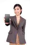 Asian woman with smart phone Stock Photography