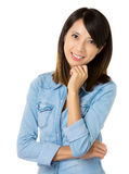 Asian woman with smile friendly Stock Photography