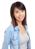 Asian woman with smile Stock Image