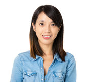 Asian woman with smile Royalty Free Stock Photography