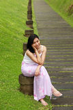 Asian woman smiling Royalty Free Stock Images