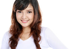 Asian woman smlling on camera. Stock Image
