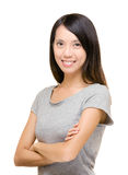 Asian woman sneezing Stock Image