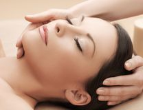 Asian woman in spa Royalty Free Stock Images
