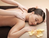 Asian woman in spa Royalty Free Stock Photos