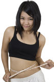 Asian woman staying fit Stock Images