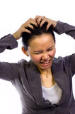 Asian Woman Stress Royalty Free Stock Photography
