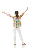 Asian woman stretch arms and feel free Royalty Free Stock Photos