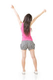 Asian woman stretch arms and feel free Stock Photography