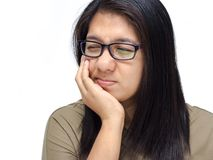 Woman have a toothache Royalty Free Stock Photos