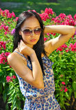 Asian woman with sunglasses Royalty Free Stock Photos