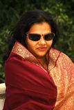 Asian woman in sunglasses Stock Photo