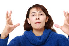 Asian woman with supernatural power Stock Photo