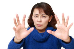 Asian woman with supernatural power Stock Photography