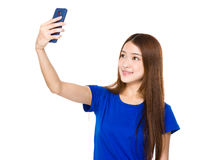 Asian woman take selfie Royalty Free Stock Image