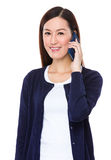 Asian woman talk to mobile phone Stock Photo