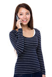 Asian woman talk to phone Stock Photo