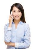 Asian woman talking phone Stock Photos