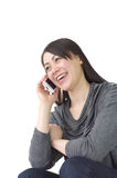 Asian woman talking with smart phone Stock Images
