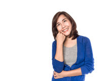Asian woman thinking Stock Photos