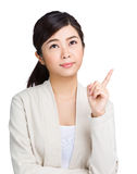 Asian woman thinking idea Stock Images