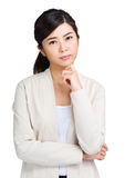 Asian woman thinking Stock Photography