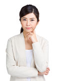 Asian woman thinking Stock Images