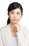 Asian woman thinking Stock Photography
